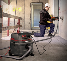 Power tool vacuum cleaners ISC Compact series, for high dust emission