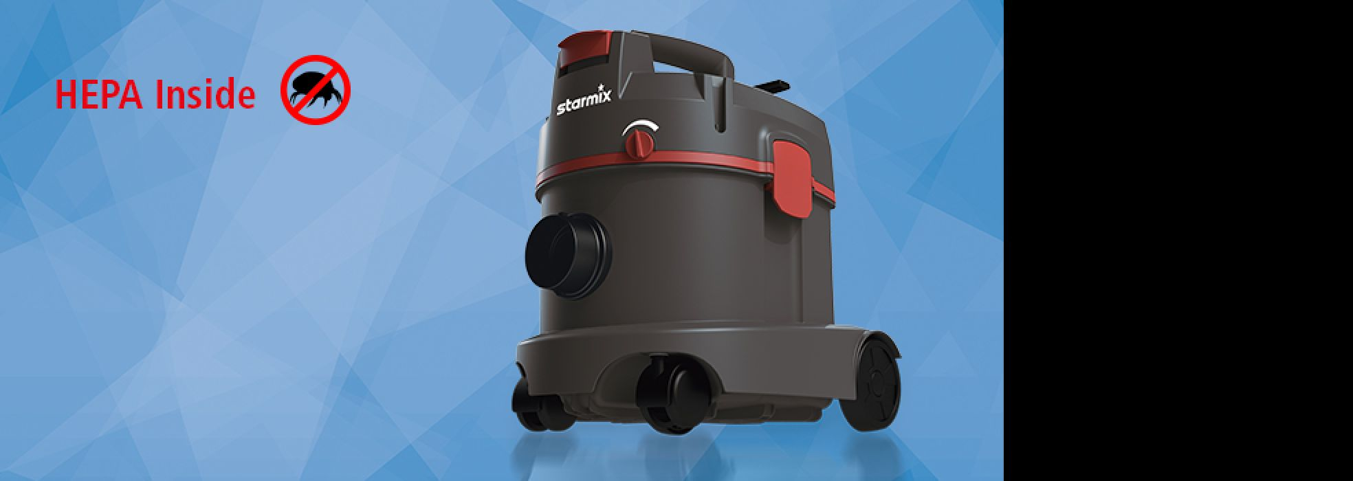 Dry vacuum cleaner with HEPA Filter